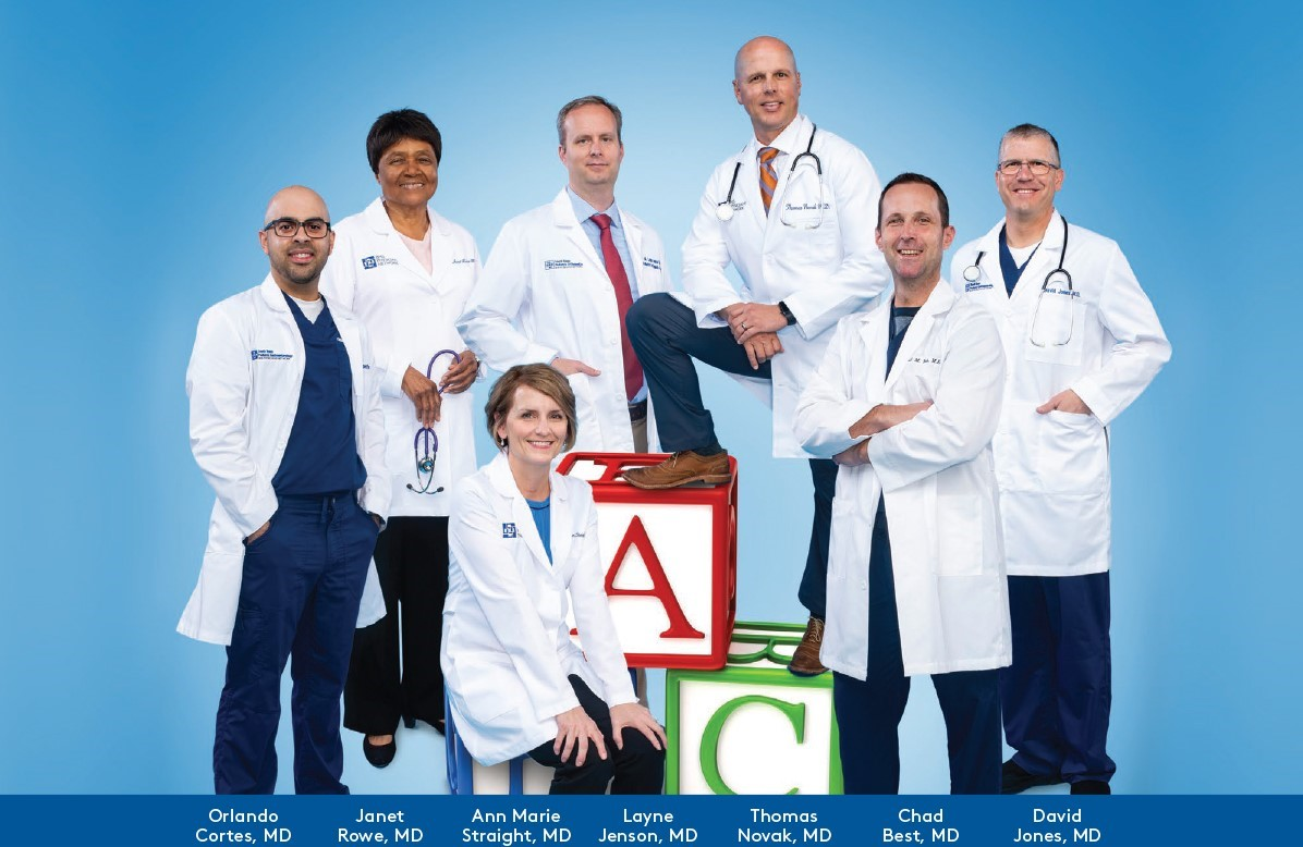 Group of pediatric specialists